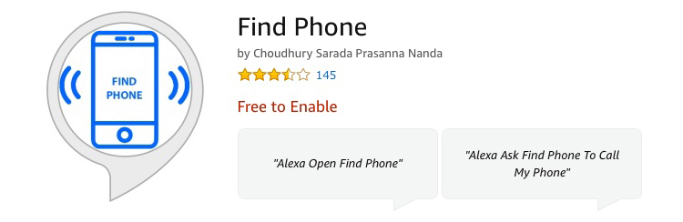 Alexa Skill Find Phone