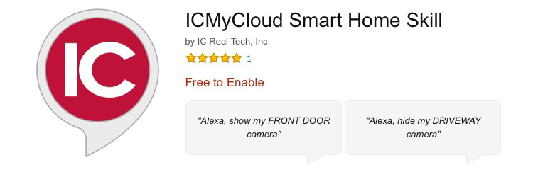 Alexa Skill ICMyCloud Smart Home Skill