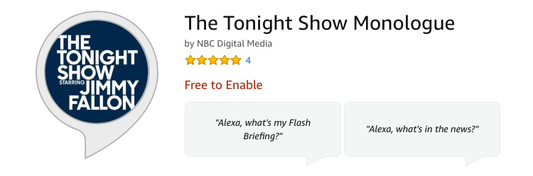 Alexa Skill The Tonight Show Monologue